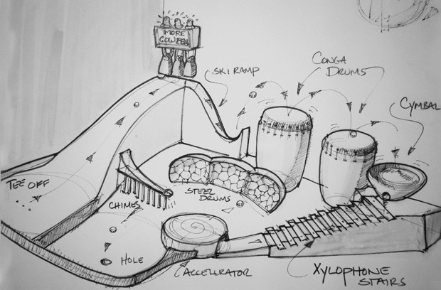 Concept sketch for the Music Hole