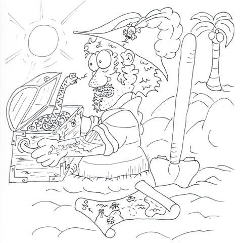 Get your hands on an original drawing from the game and a card from the first play-test deck!