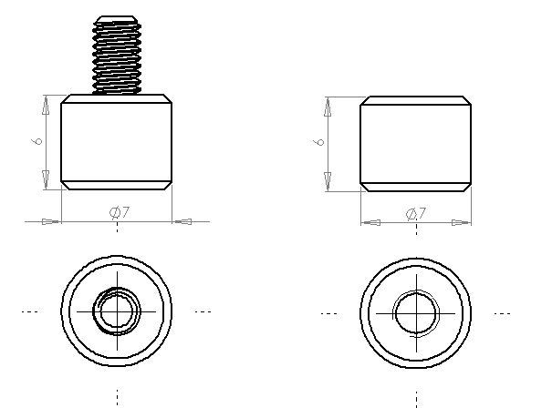 Profile of production thumb screw and thumb nut to be used.