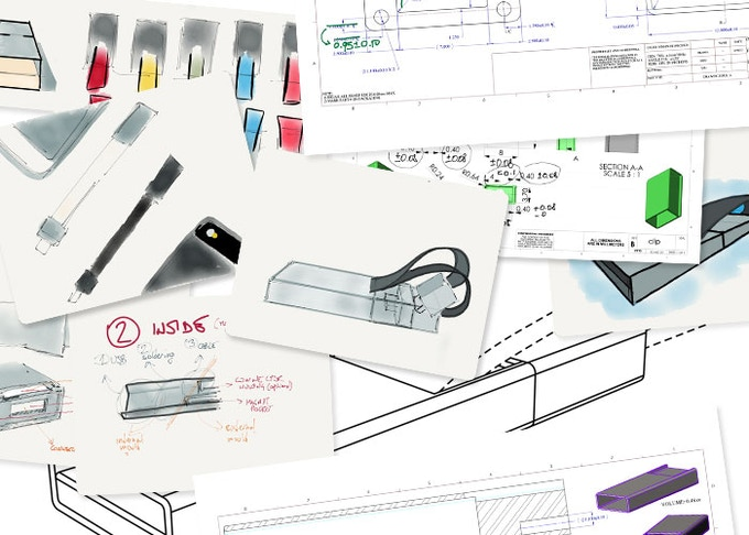 Quick sketches and technical drawings from the journey of popcord