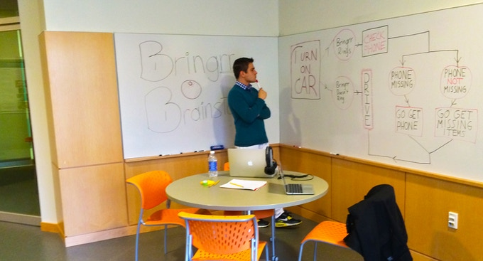 Aldo (CEO) looking pensive during one of our brainstorming sessions.