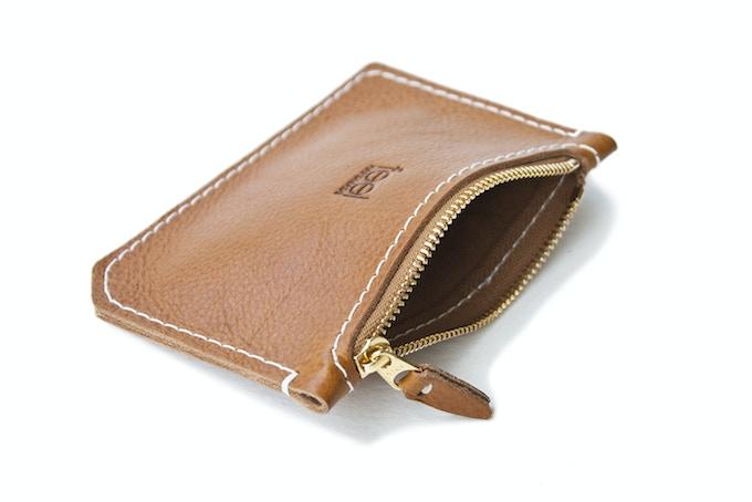Zip Wallet: Chestnut interior