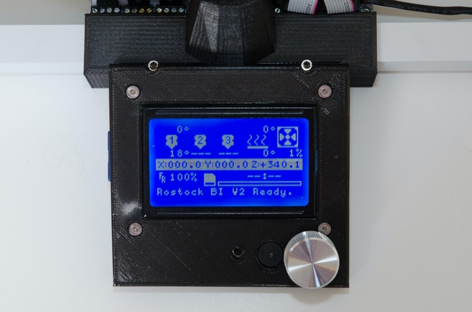 Large LCD controller for standalone operation