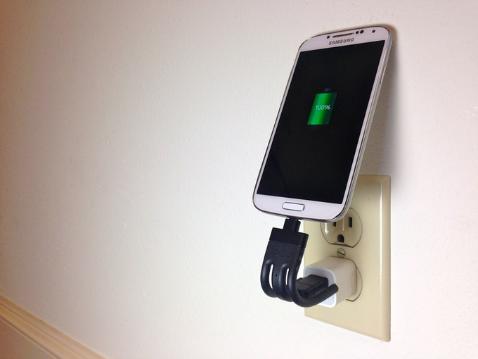 Wall charger mode: keep your phone off the floor