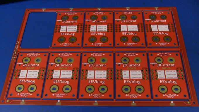 The prototype PCB production panel.