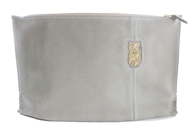 Large Stone Clutch with Owl