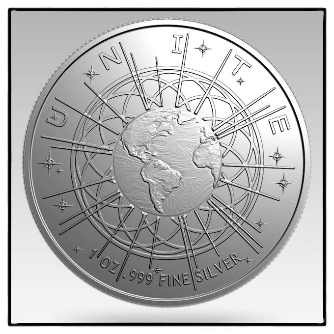 The 1 Oz Silver Awaken Coin Medallion By Lotus Luminous