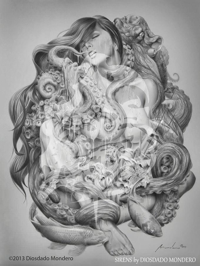 Siren's Deep Dream by Diosdado Mondero