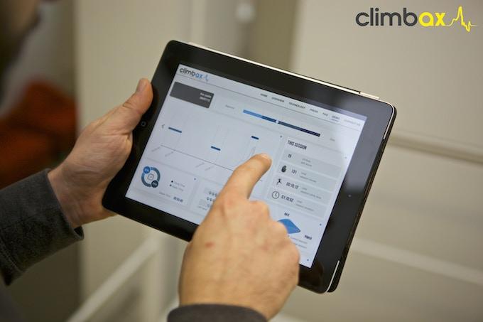 demo interface on iPad