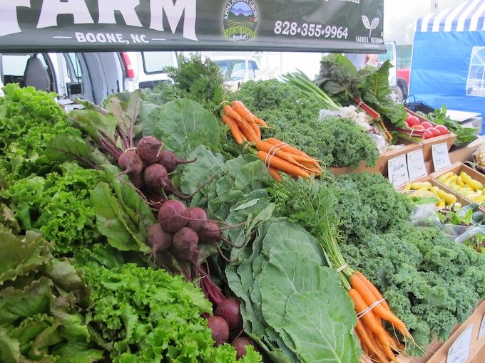 Various seasonal crops our community looks forward to each week at the farmer's market