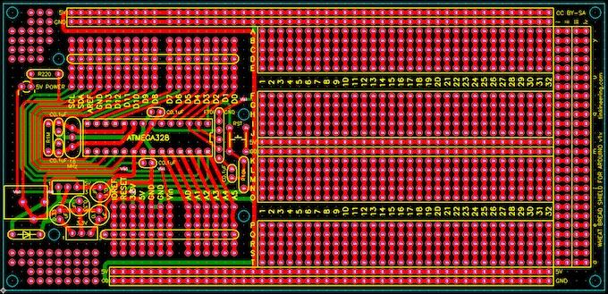 Wheat Bread Board for Arduino v1x