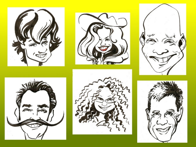 Examples of Avatar caricatures by Agne