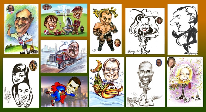 Examples of our custom caricatures