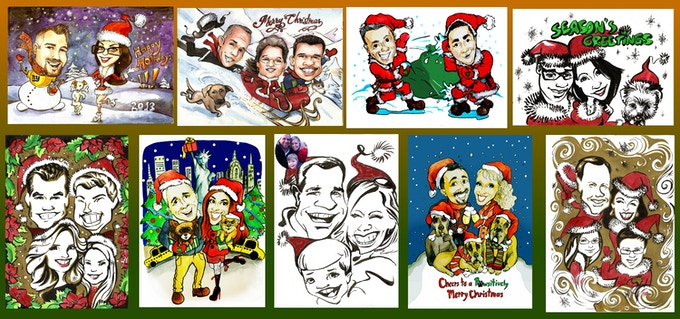 Examples of our family and friends caricatures
