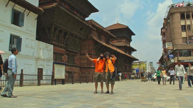 Borislav Karamelski and Antoni Krastev in Kathmandu, Nepal