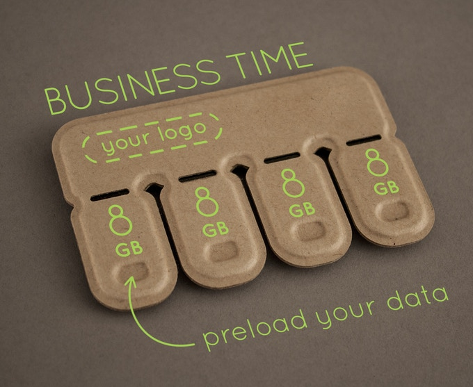 Five of our largest capacity packs, with custom logo & preloaded data