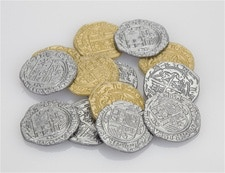 50 Gold and 50 Silver coins from Age of Empires 3