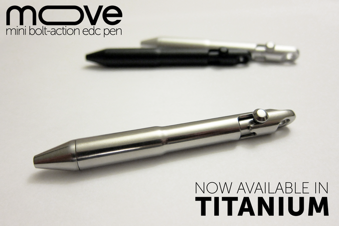 The polished Titanium Move Pen for the discerning gentlemen