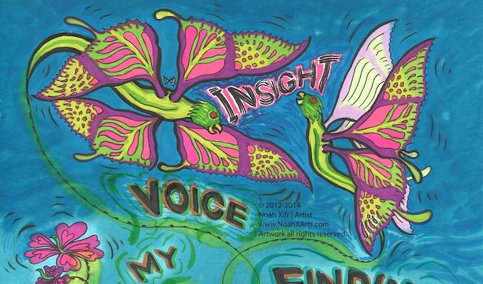 The hybrid VOICE character = Butter-Bird = Butterfly + Flower + Bird!