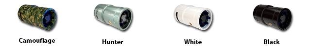 Snooperscope's case color choice: Camouflage, Original Hunter Green, Black, White