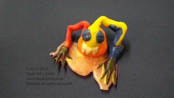 Handmade Sculpey 3 - HURT HEART TOY