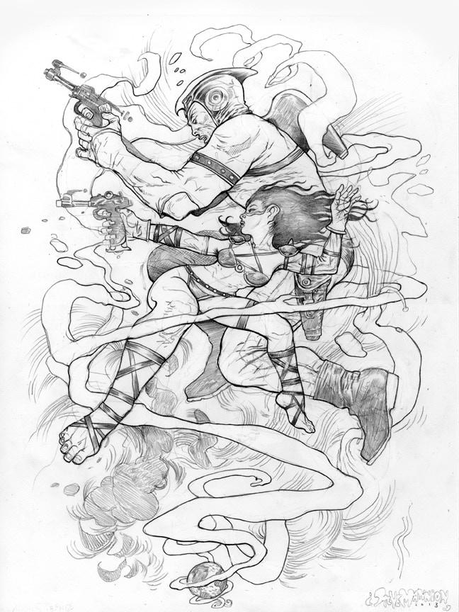 Adam Strange Drawing