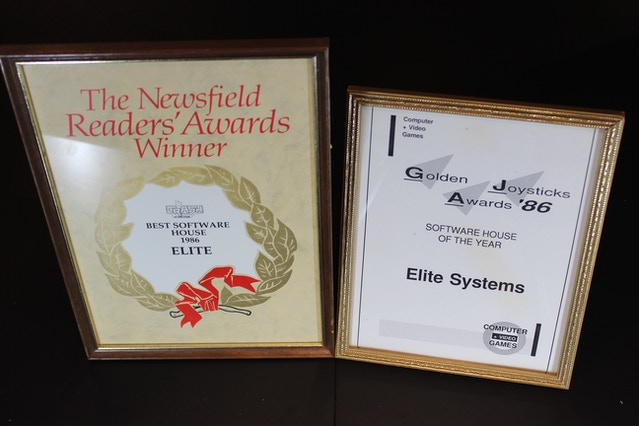 1986, Elite® wins 'Software House of the Year' in the Computer and Video Games magazine ('C&VG') Golden Joysticks Awards. Elite® wins 'Best Software House' in the 'Crash' (ZX Spectrum) magazine Readers' Awards.