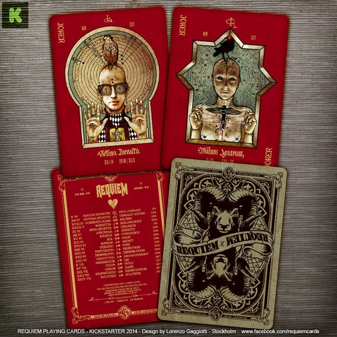 Joker (Victima Incauta) - Joker (Malum Ignavum) - 55th card and back side