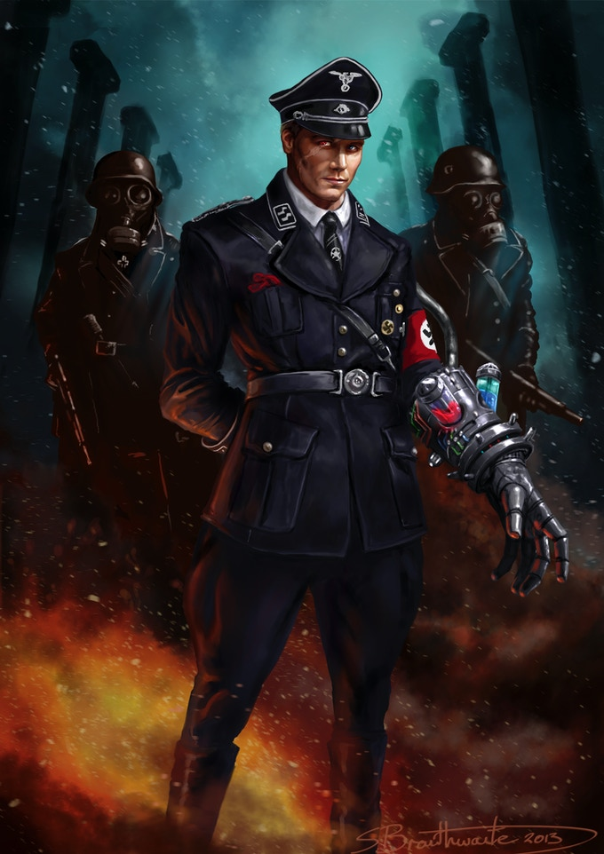 Updated Artwork for Nazi Super Soldier ABOVE!!! Hope you ENJOY! :)  (Link to Shane Braithwaite's Deviant Art Site! Go on Over and Show him Some Love!)