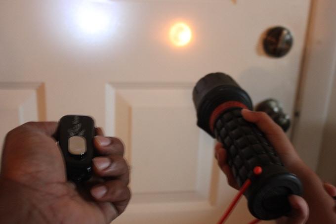 The built in light of Lazy Keys is brighter then a regular flashlight