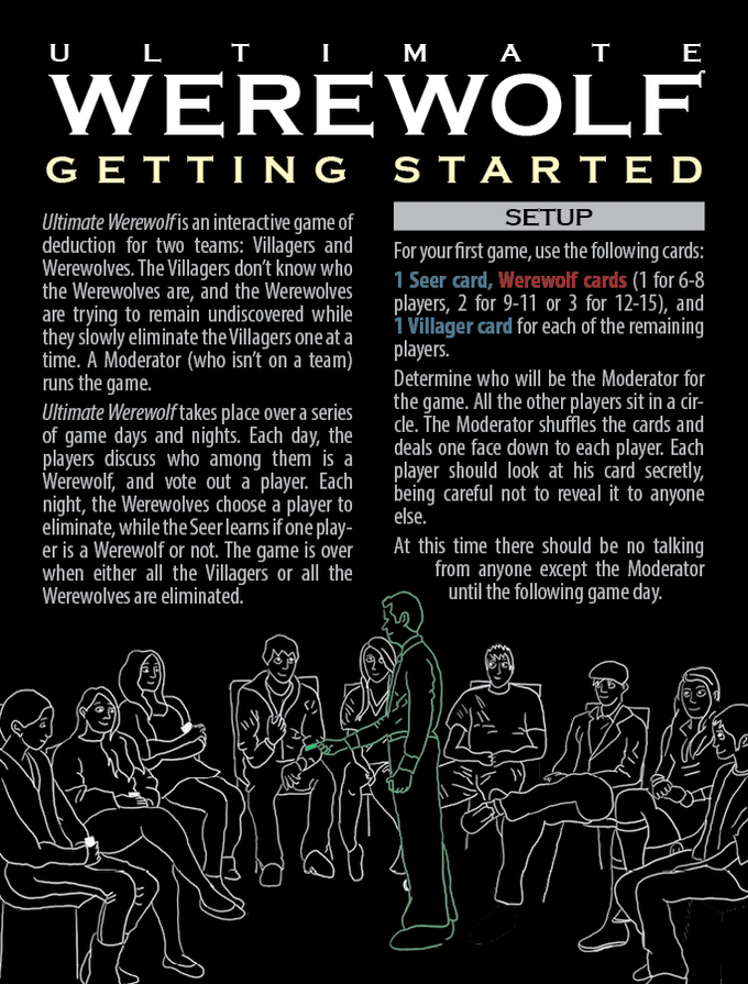 Getting Started Guide: The quickest and easiest way to get started playing Ultimate Werewolf.