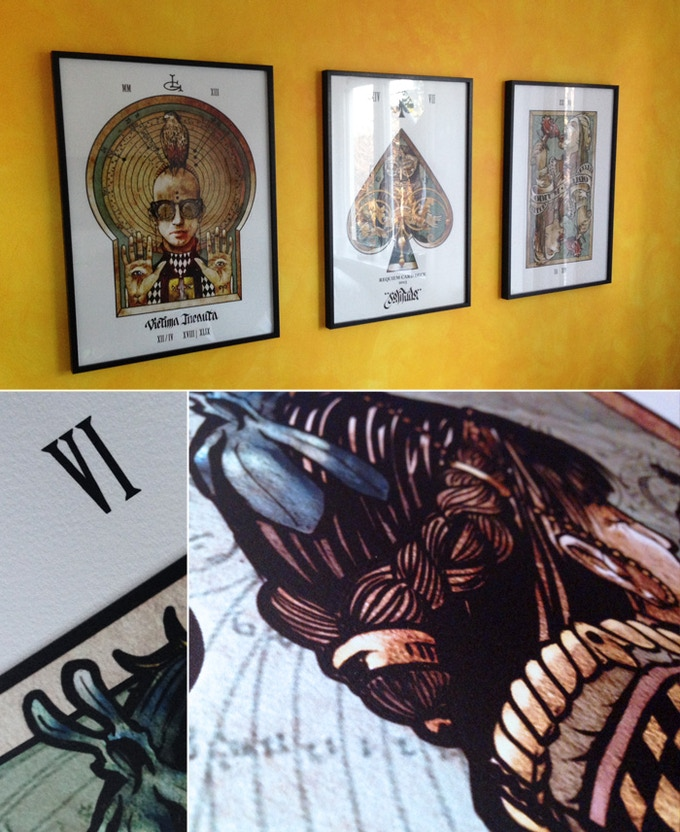 3 framed prints at my place and printed Queen of Clubs details
