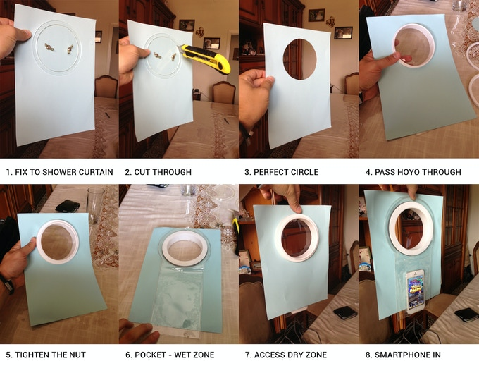 First shower curtain cutting kit demonstration