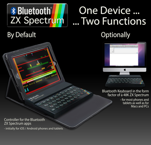 """Bluetooth ZX Spectrum's features and functions: """"One Device ... Two Functions""""."""