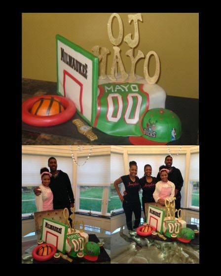 JordyCakes creation for O.J. Mayo of the Milwaukee Bucks