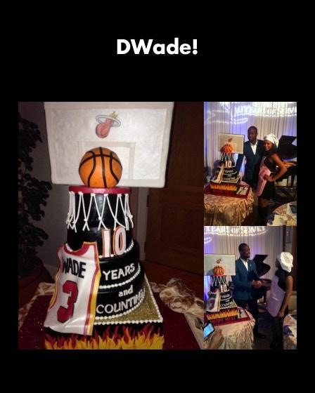 JordyCakes creation for Dwyane Wade of the Miami Heat
