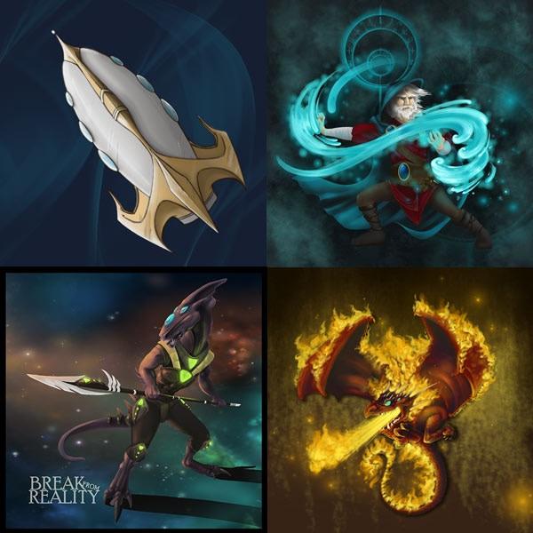 """Fantasy Icons  3"""" x 3"""" Coasters"""