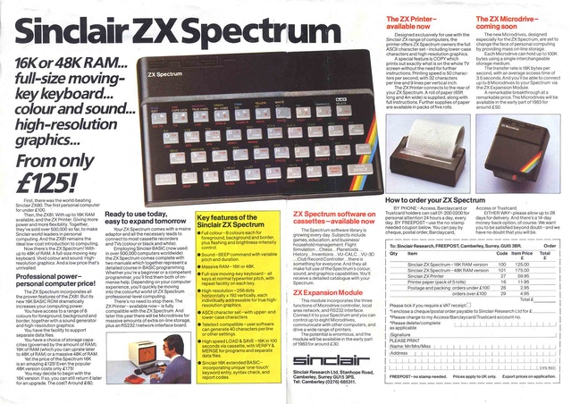A Reminder Of How The ZX Spectrum Was 'Pitched' In 1982