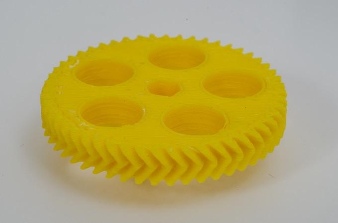 Herringbone gear by ScribbleJ - Yellow ABS