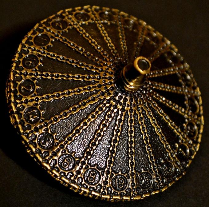 Antique Bronze d20 Dice