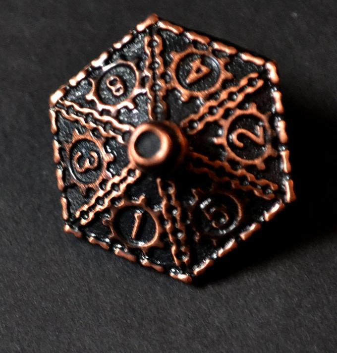 Antique Copper d6 Dice
