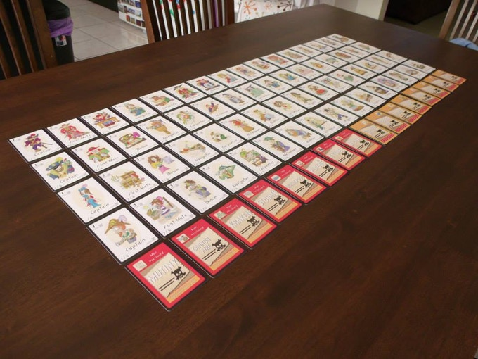 The complete and finished deck.