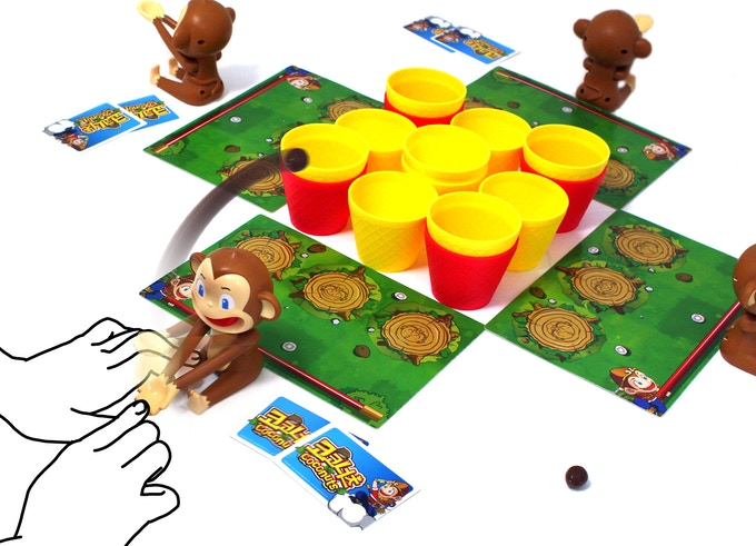 Step Two: With your your Monkey Catapult, shoot a rubbery coconut!