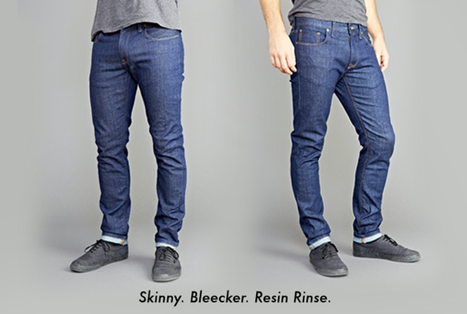 Fit - Skinny; Fabric - 'Bleecker' (98%Cotton/2%Elastane); Wash - Resin Rinse