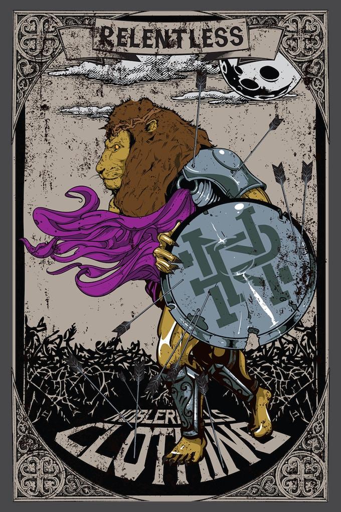 RELENTLESS LION POSTER
