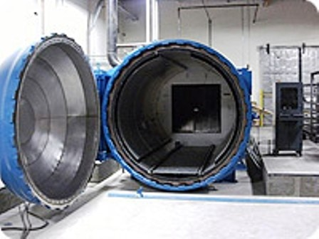 An Autoclave like this model is used for curing the flat panels.