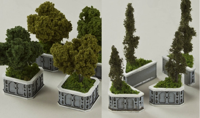 Planters (plants not included)