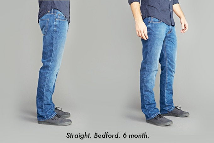 Fit - Straight; Fabric - Bedford (100% Cotton); Wash - 6 Month Bleach