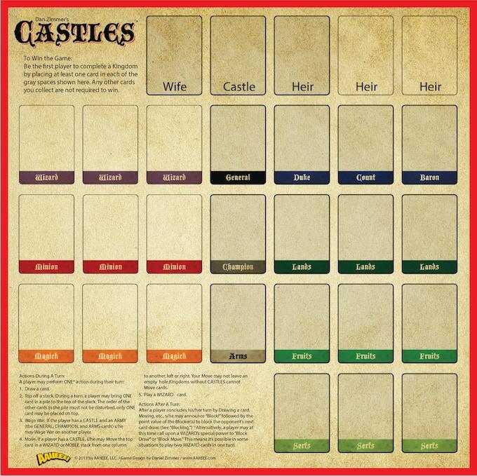 """Castles  15"""" x 15"""""""
