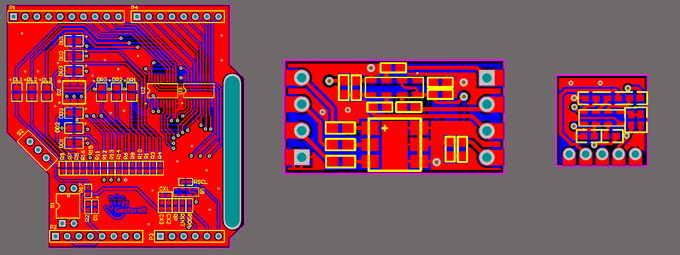 Above are the final PCB designs after modifying for several times.